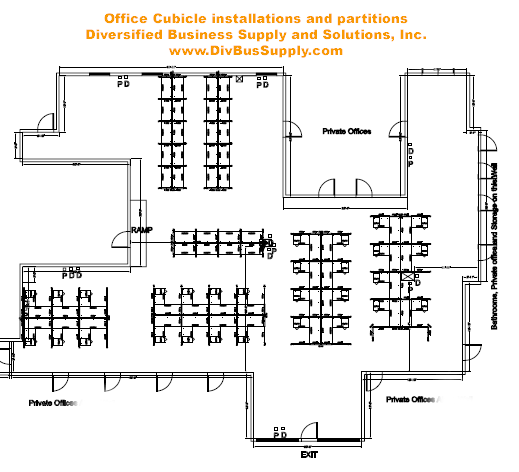 Office Cubicle Layout Design Office Cubicles  Georgia Office Cubicles Furniture And .